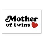 Mother of Twins Rectangle Sticker
