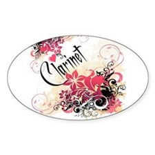 Heart My Clarinet Oval Decal