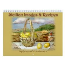 Map Of Sicily Wall Calendar