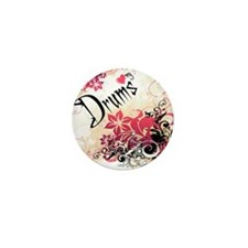Heart My Drums Mini Button