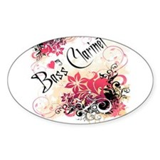 Heart My Bass Clarinet Oval Decal