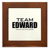 """Team Edward"" Framed Tile"