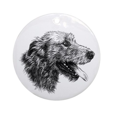 Irish Wolfhound Ornament (Round)