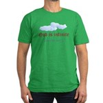 God is infinite. You're not Men's Fitted T-Shirt (