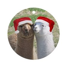 Alpaca Christmas Ornament (Round)