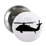 "Funny Black hawk 2.25"" Button (100 pack)"