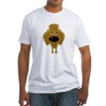 Big Nose Poodle Fitted T-Shirt