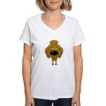 Big Nose Poodle Women's V-Neck T-Shirt