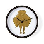 Big Butt Poodle Wall Clock