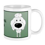 Big Nose Poodle Dad Mug