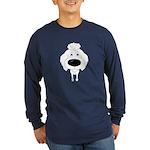 Big Nose Poodle Long Sleeve Dark T-Shirt