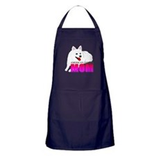 American Eskimo Dog Mom Apron (dark)