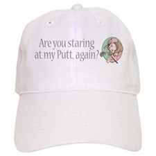 Staring at My Putt Baseball Cap