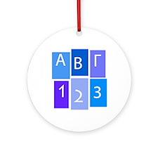 GREEK ABC/123 Ornament (Round)