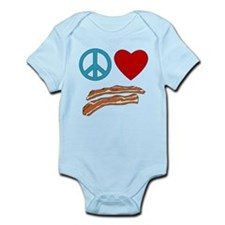 Peace Love Bacon Symbology Infant Bodysuit