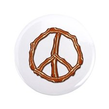 "Bacon Peace Sign 3.5"" Button (100 pack)"