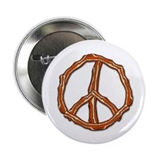 "Bacon Peace Sign 2.25"" Button"
