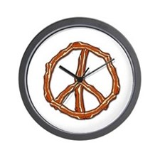 Bacon Peace Sign Wall Clock