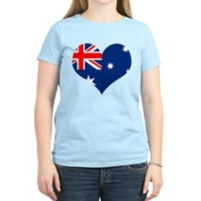 Australia Heart Flag T-Shirt
