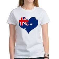 Australia Heart Flag Tee