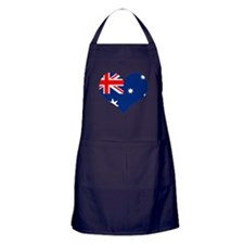 Australia Heart Flag Apron (dark)