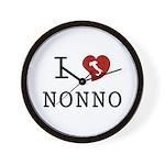 I Love Nonno Wall Clock