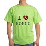 I Love Nonno Green T-Shirt