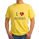I Love Nonno Yellow T-Shirt