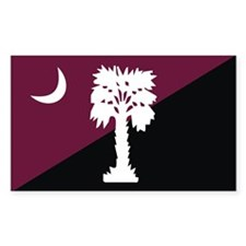 Garnet/Black SC Rectangle Decal