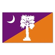 Purple/Orange SC Rectangle Decal