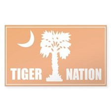Tiger Nation Rectangle Decal