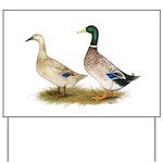 Ducks: Silver Welsh Harlequi Yard Sign
