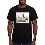 Ducks: Silver Welsh Harlequi Men's Fitted T-Shirt