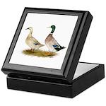 Ducks: Silver Welsh Harlequi Keepsake Box