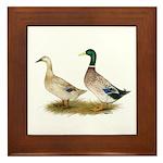 Ducks: Silver Welsh Harlequi Framed Tile