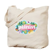 Retro Burst Piano Tote Bag