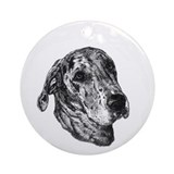 Merle Great Dane Ornament (Round)