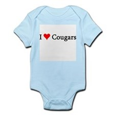 I Love Cougars Infant Creeper