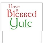 Blessed Yule Yard Sign