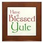 Blessed Yule Framed Tile
