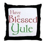 Blessed Yule Throw Pillow