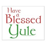 Blessed Yule Small Poster