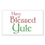Blessed Yule Sticker (Rectangle 10 pk)