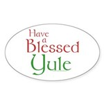 Blessed Yule Sticker (Oval 10 pk)