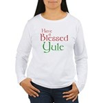 Blessed Yule Women's Long Sleeve T-Shirt