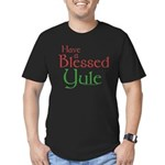 Blessed Yule Men's Fitted T-Shirt (dark)