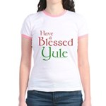 Blessed Yule Jr. Ringer T-Shirt