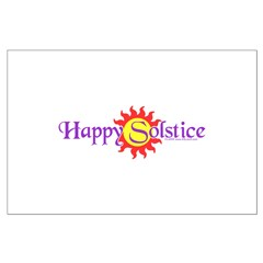 Happy Solstice Large Poster