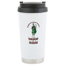 Plaid Pants Ceramic Travel Mug