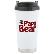 Papa Bear Claw Ceramic Travel Mug